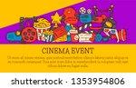 cinema event poster flyer media ... | Shutterstock .eps vector #1353954806