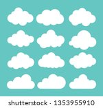 Clouds Icon. Vector...