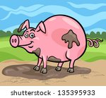 cartoon illustration of funny... | Shutterstock .eps vector #135395933
