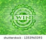 twine realistic green emblem....   Shutterstock .eps vector #1353965393