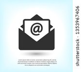 mail vector icon. e mail icon ...   Shutterstock .eps vector #1353967406