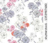 colorul seamless pattern vector ... | Shutterstock .eps vector #1353987680