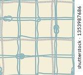 retro summer blue marine rope... | Shutterstock .eps vector #1353987686