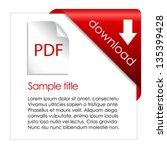 pdf download cart  vector...   Shutterstock .eps vector #135399428