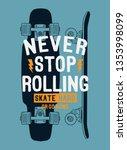 skate board vector...   Shutterstock .eps vector #1353998099