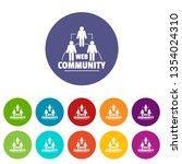 web community icons color set...