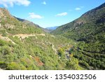 scenic hill country on corsica... | Shutterstock . vector #1354032506