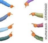 hands pointing on white | Shutterstock .eps vector #1354040660