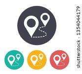 route with pins illustration.... | Shutterstock .eps vector #1354044179