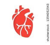 heart icon in flat style...   Shutterstock .eps vector #1354052543
