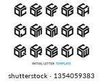 a collection of fifteen...   Shutterstock .eps vector #1354059383