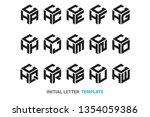 a collection of fifteen... | Shutterstock .eps vector #1354059386