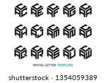 a collection of fifteen... | Shutterstock .eps vector #1354059389