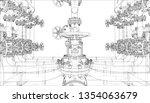 sketch of industrial equipment. ... | Shutterstock .eps vector #1354063679