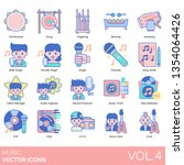 music icons including... | Shutterstock .eps vector #1354064426