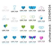 heart icons   hand drawn   set  ... | Shutterstock .eps vector #135409034