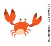 cute smiling red crab. nice... | Shutterstock .eps vector #1354095179