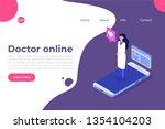 online doctor consultation.... | Shutterstock . vector #1354104203