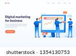 digital marketing concept ... | Shutterstock .eps vector #1354130753