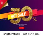 shine golden sale 30  off with... | Shutterstock .eps vector #1354144103