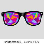 sunglasses with polygons... | Shutterstock .eps vector #135414479