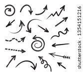 grunge arrows vector set  | Shutterstock .eps vector #1354151216