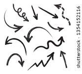 grunge arrows vector set on...   Shutterstock .eps vector #1354152116