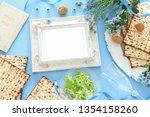 pesah celebration concept ... | Shutterstock . vector #1354158260