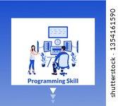 programming skills  modern flat ...