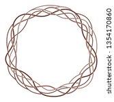 round celtic frame  wicker vine ... | Shutterstock .eps vector #1354170860