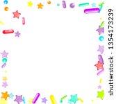 sprinkles grainy. cupcake... | Shutterstock .eps vector #1354173239