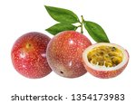 passion fruit isolated on a... | Shutterstock . vector #1354173983