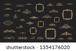 vintage decor elements and... | Shutterstock .eps vector #1354176020