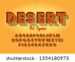 3d hot textured font. vintage... | Shutterstock .eps vector #1354180973