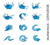 water vector set | Shutterstock .eps vector #135418538