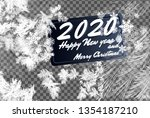 2020 frost glass pattern.... | Shutterstock .eps vector #1354187210