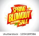 spring blowout sale  mega... | Shutterstock .eps vector #1354189586