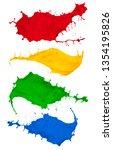 paint splash collection... | Shutterstock . vector #1354195826