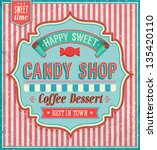 candy shop. vector illustration. | Shutterstock .eps vector #135420110