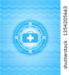 medical briefcase icon inside... | Shutterstock .eps vector #1354205663
