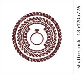 red diamond ring icon inside...   Shutterstock .eps vector #1354205726