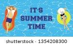 vector banner  of girl and man  ... | Shutterstock .eps vector #1354208300