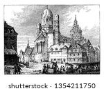 mayence cathedral served as the ... | Shutterstock .eps vector #1354211750