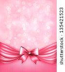 holiday pink background with...   Shutterstock .eps vector #135421523