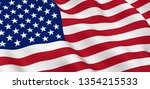 united states flag close up... | Shutterstock . vector #1354215533