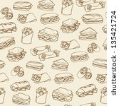 Sandwich & wrap background pattern
