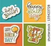 happy birthday | Shutterstock .eps vector #135423728