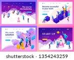 set template design  isometric... | Shutterstock .eps vector #1354243259
