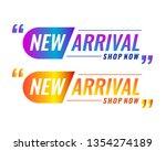 new arrival labels. vector...   Shutterstock .eps vector #1354274189