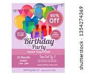 birthday poster template gift...   Shutterstock .eps vector #1354274369